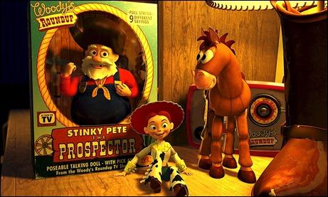 Los nuevos juguetes de Toy Story 2, entre ellos el villano Oloroso Pete