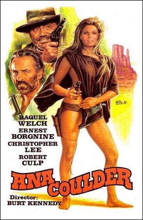 Poster espanol de Ana Coulder, con la protagonista y su poncho