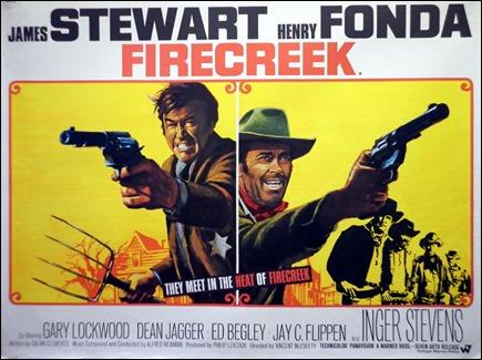 Stewart y Fonda, enfrentados en Los malvados de Firecreek