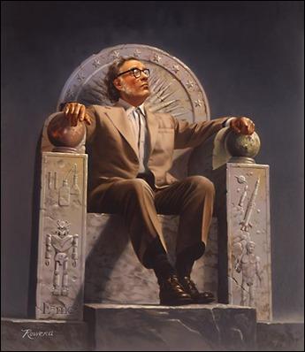 Retrato de Isaac Asimov, por Rowena Morrill