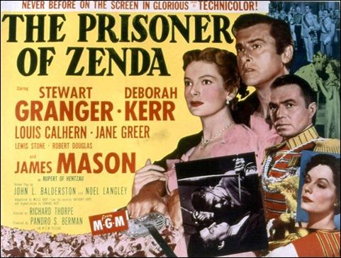 Rutilante cartel de El prisionero de Zenda