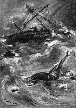 El Sloughi es presa del huracan, por Benett