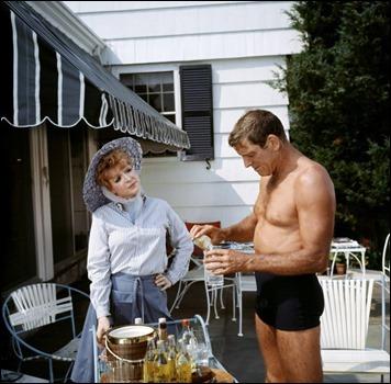 Burt Lancaster en plena forma en El nadador