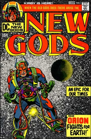 Orion en la portada del numero 1 de The New Gods