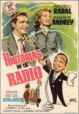 Cartel de Historias de la radio