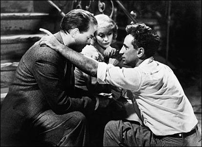 Elia Kazan dando indicaciones a Karl Malden y Vivien Leigh en Un tranvia llamado Deseo