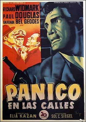 Jack Palance destaca en el cartel español de Panico en las calles