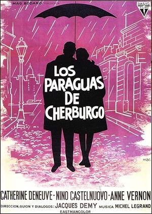 Cartel español de Los paraguas de Cherburgo