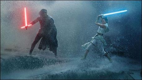 Kylo Ren y Rey combaten entre las aguas turbulentas de Endor