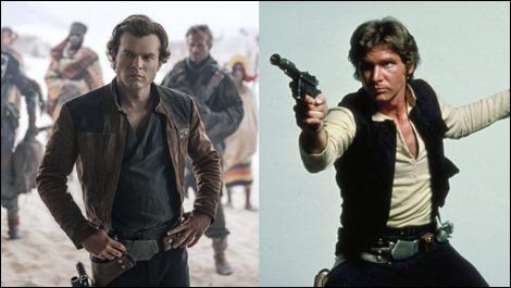 Alden Ehrenheich y Harrison Ford, o sea, Han Solo