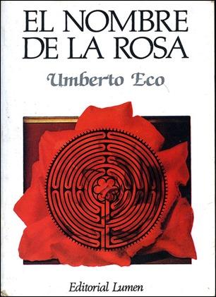 Portada de la primera edicion en Lumen de El nombre de la rosa
