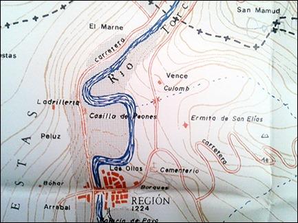 Region, en el mapa que Benet incluyo en Herrumbrosas lanzas