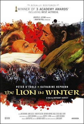 El leon en invierno, con Peter O'Toole y Katharine Hepburn