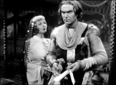 Henry Wilcoxon como Ricardo, y Loretta Young como Berenguela, en Las Cruzadas, de DeMille