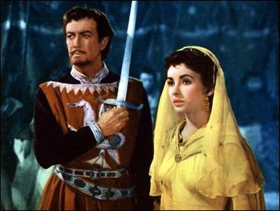 Los dos Taylor, Robert y Elizabeth, en Ivanhoe