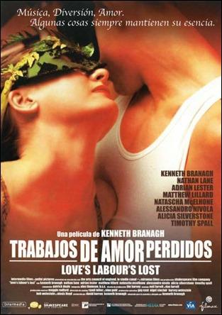 Cartel hispano de Trabajos de amor perdidos