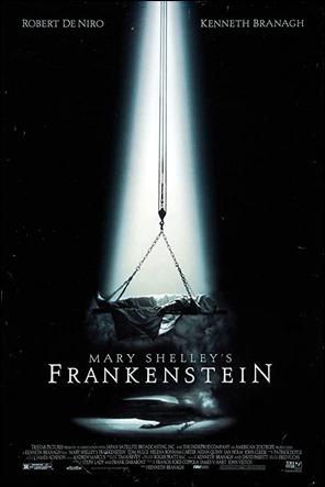 Curioso cartel del Frankenstein de Branagh