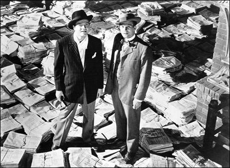 Welles y Cotten, en una foto publicitaria de Ciudadano Kane