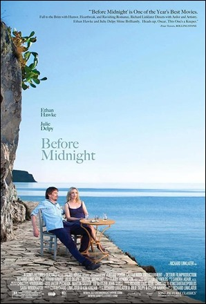 Bonito cartel de Antes de anochecer, aunque no se corresponda con ninguna imagen del film