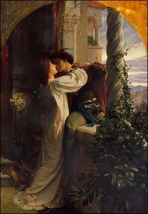 Romeo y Julieta, por Frank Dicksee, pintura de 1884