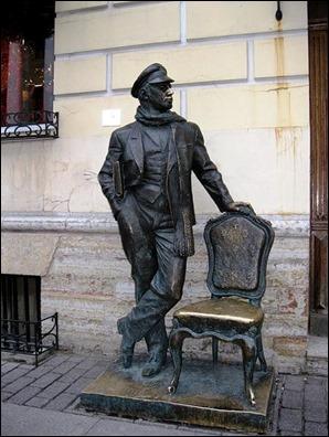 Estatua de Ostap Bender, en San Petersburgo