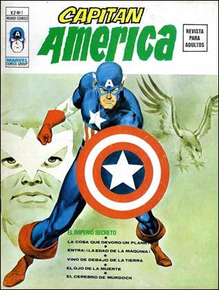 Primer numero del vol. 2 de Capitan America, portada de Lopez Espi
