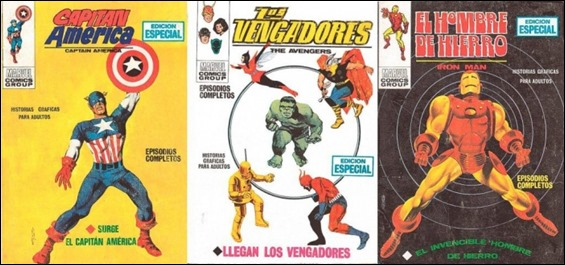 Varios primeros numeros de Vertice-Marvel, por Enrich
