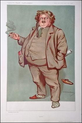 Caricatura de Chesterton en la revista Vanity Fair