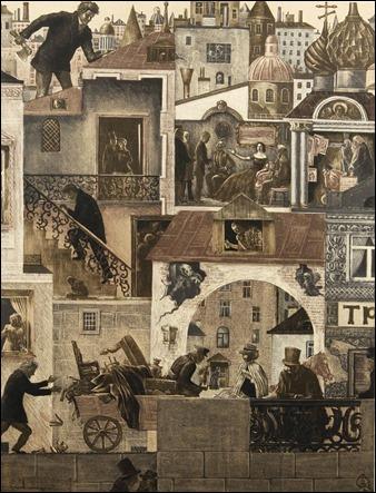 Ilustracion para Crimen y castigo, por viktor Vilner