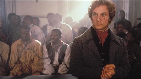 McConaughey y Hounsou, en segundo termino, en Amistad