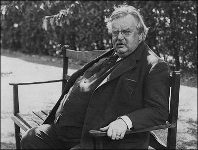Un anciano G. K. Chesterton