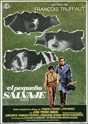 Cartel espanol de El pequeno salvaje