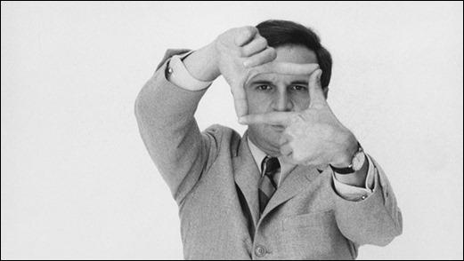 Famosa imagen de Truffaut, hombre de cine
