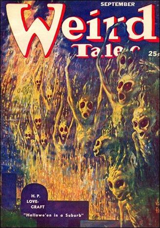 Esplendida cubierta de Virgil Finlay para Weird Tales