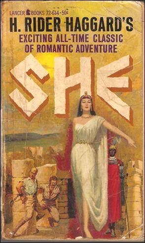 Portada para una edicion inglesa de la genial Ella, de H. Rider Haggard