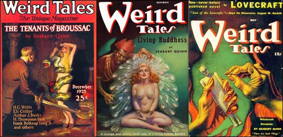 Seabury Quinn en las cubiertas de Weird Tales