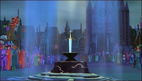 Excalibur no podia faltar en Merlin el encantador