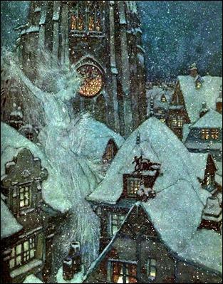 La reina de las nieves, por Edmund Dulac