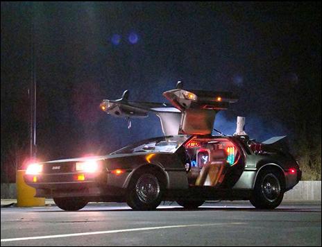 El DeLorean que viaja en el tiempo
