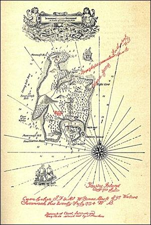 El mapa de la isla del tesoro, por Stevenson