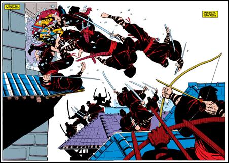 Espectacular splash page de Wolverine, de Claremont-Miller