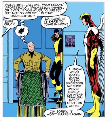 El Profesor-X en su emblematica silla de ruedas