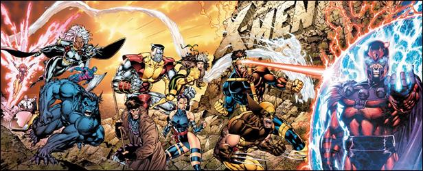 Espectacular ilustración de Jim Lee con los Hombres-X