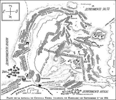 Plano de la batalla de Masoller