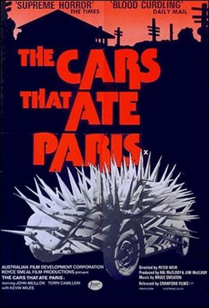 Cartel original de Los coches que devoraron París