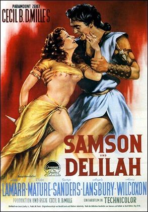 Este poster de Sansón y Dalila jamas hubiera podido verse en la Espana de Franco