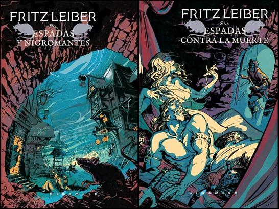 Excelentes cubiertas para Gigamesh de las aventuras de Fafhrd y el Ratonero Gris
