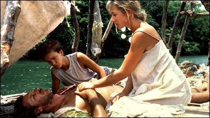 Harrison Ford, River Phoenix y Helen Mirren en La costa de los mosquitos