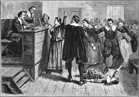Grabado sobre los juicios de Salem