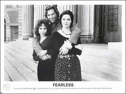 Jeff Bridges y las dos actrices de Sin miedo a la vida, Rosie Perez e Isabella Rossellini